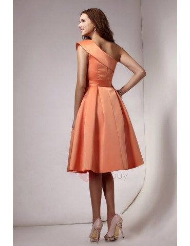 A-line Sashes One-Shoulder Homecoming Dress