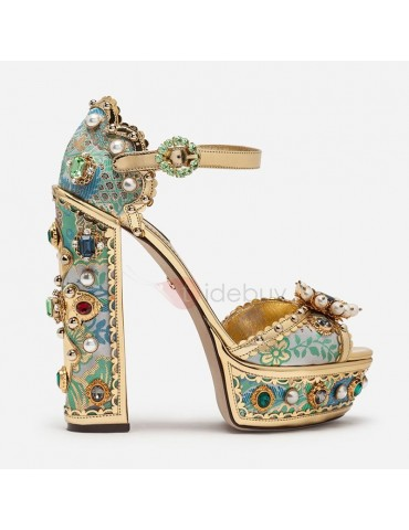Buckle Chunky Heel Buckle Customized Prom Sandals