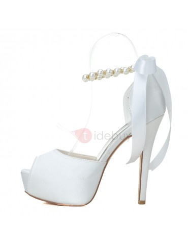 Classyable Pearls Stiletto Heel Wedding Shoes