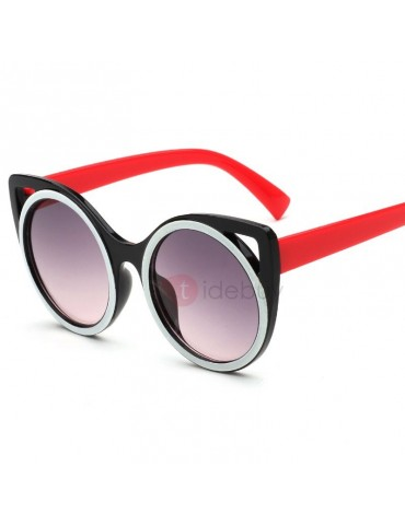 Candy Color Round Cat Eye Design Kid's Sunglasses