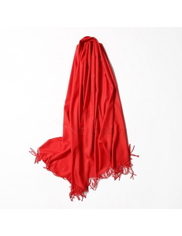 Candy Jelly Color Imitation Cashmere Tassel Scarf