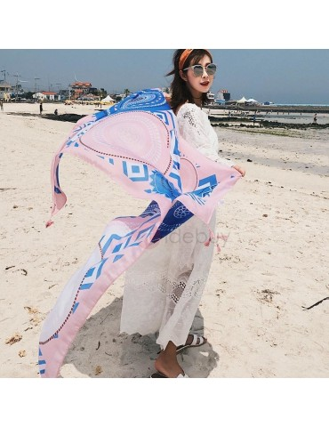 Colored Graphic Print Lighter Square Beach Towel