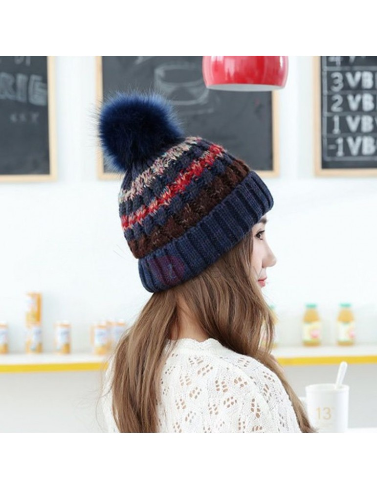 Assorted Colors Knitted Warmth Fall Winter Hat