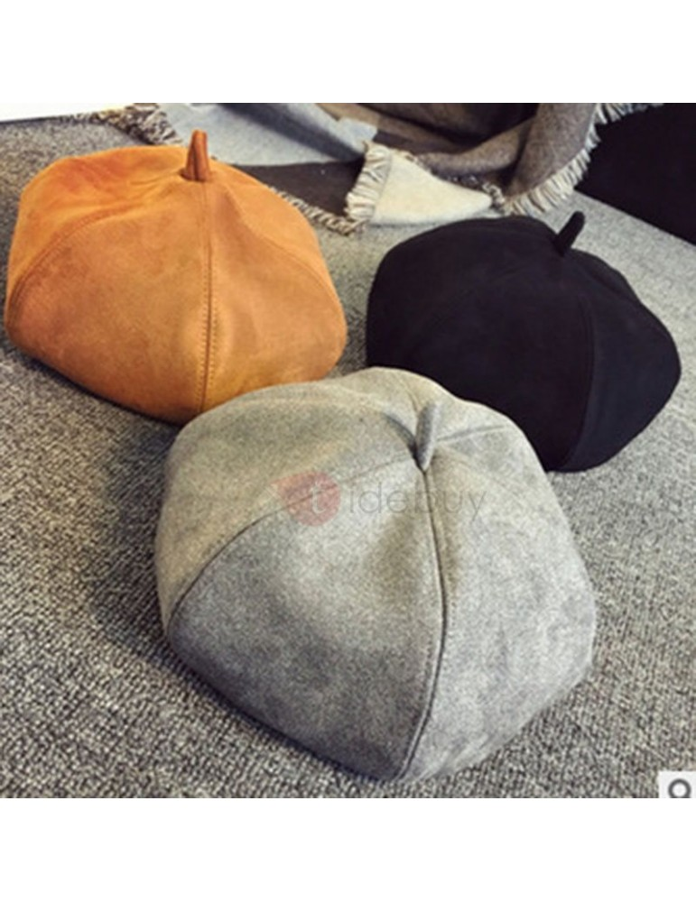 Beret Suede Sweet Plain Hat