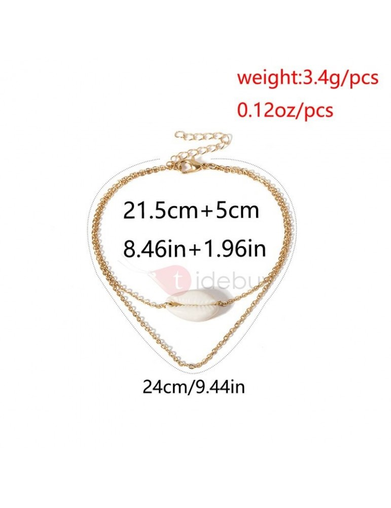 E-Plating Female Conch Sweet Anklet