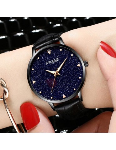 Analog Display Rhinestone Decorated Star Table Watch
