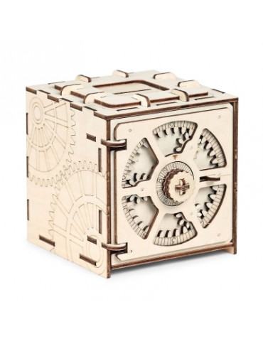 Wooden Model 3D Puzzle Cipher Code Deposit Box