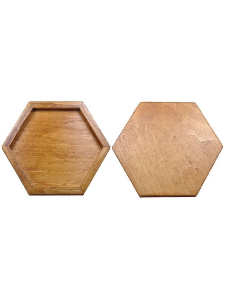 Wooden Hexagon Puzzle Geometric Drawing Board